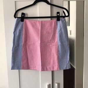 Vineyard Vines pinkish, white, and blue skirt